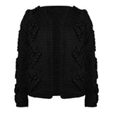 Heart knit black