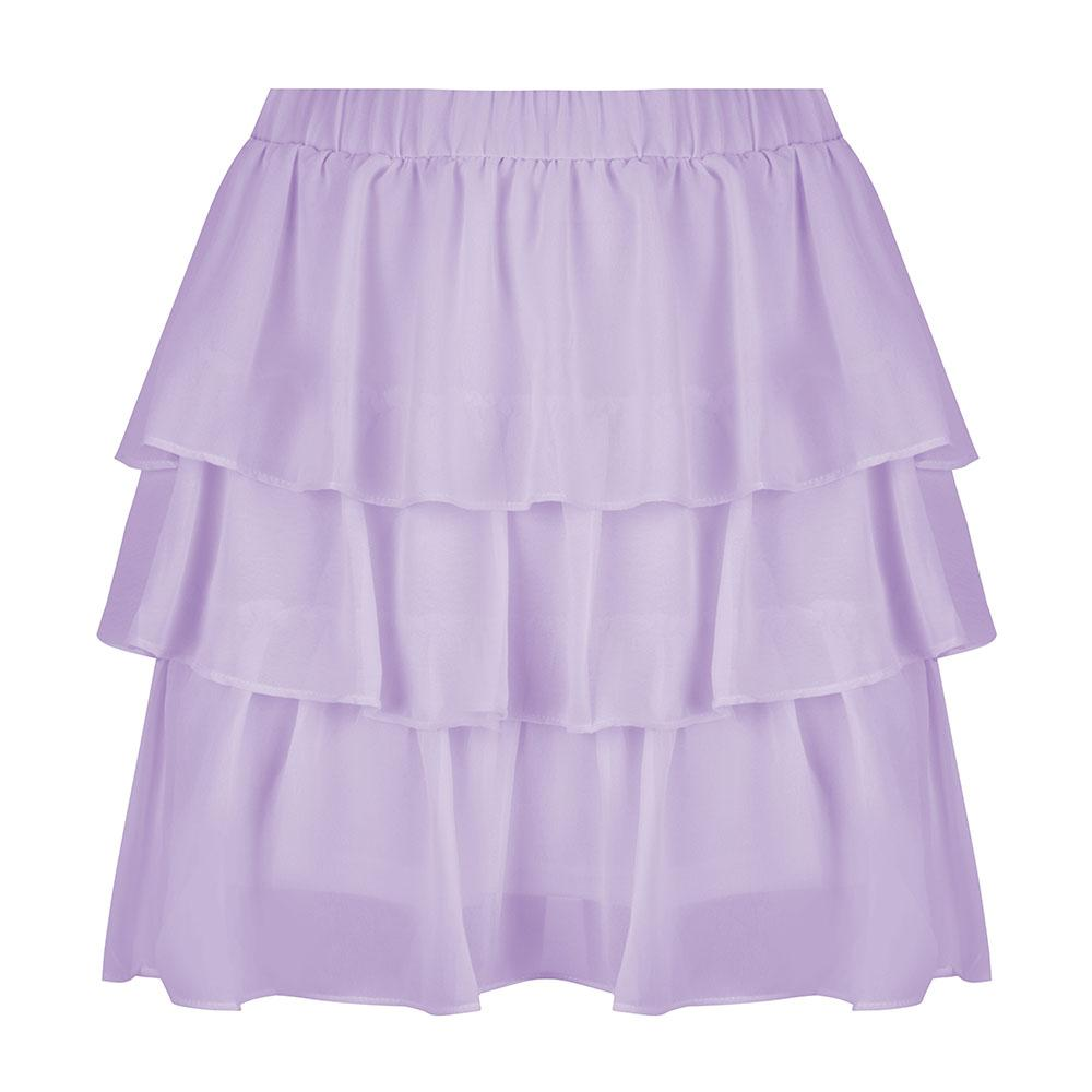 Layer by layer skirt lila