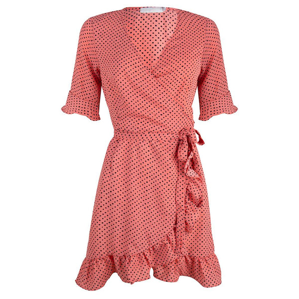 Polkadot dress candy pink