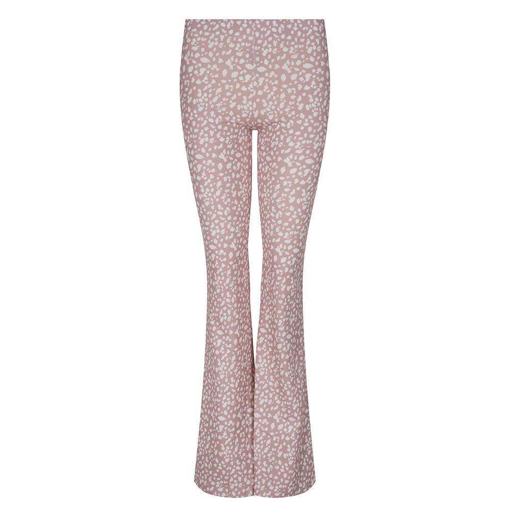 Flared legging roze stippen