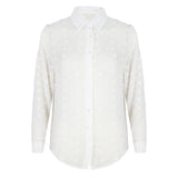 Stipjes blouse wit