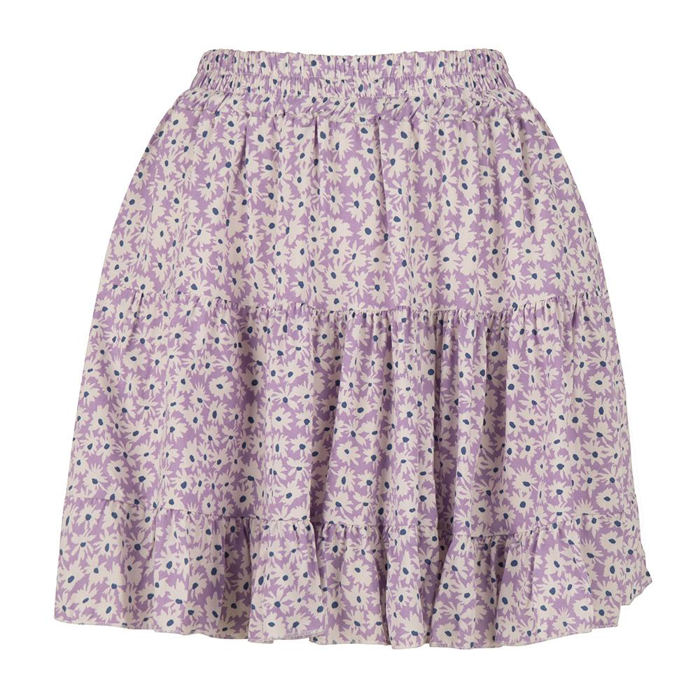 Summer skirt bloemen lila