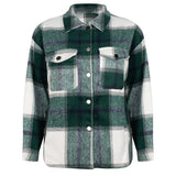 Checked jacket green