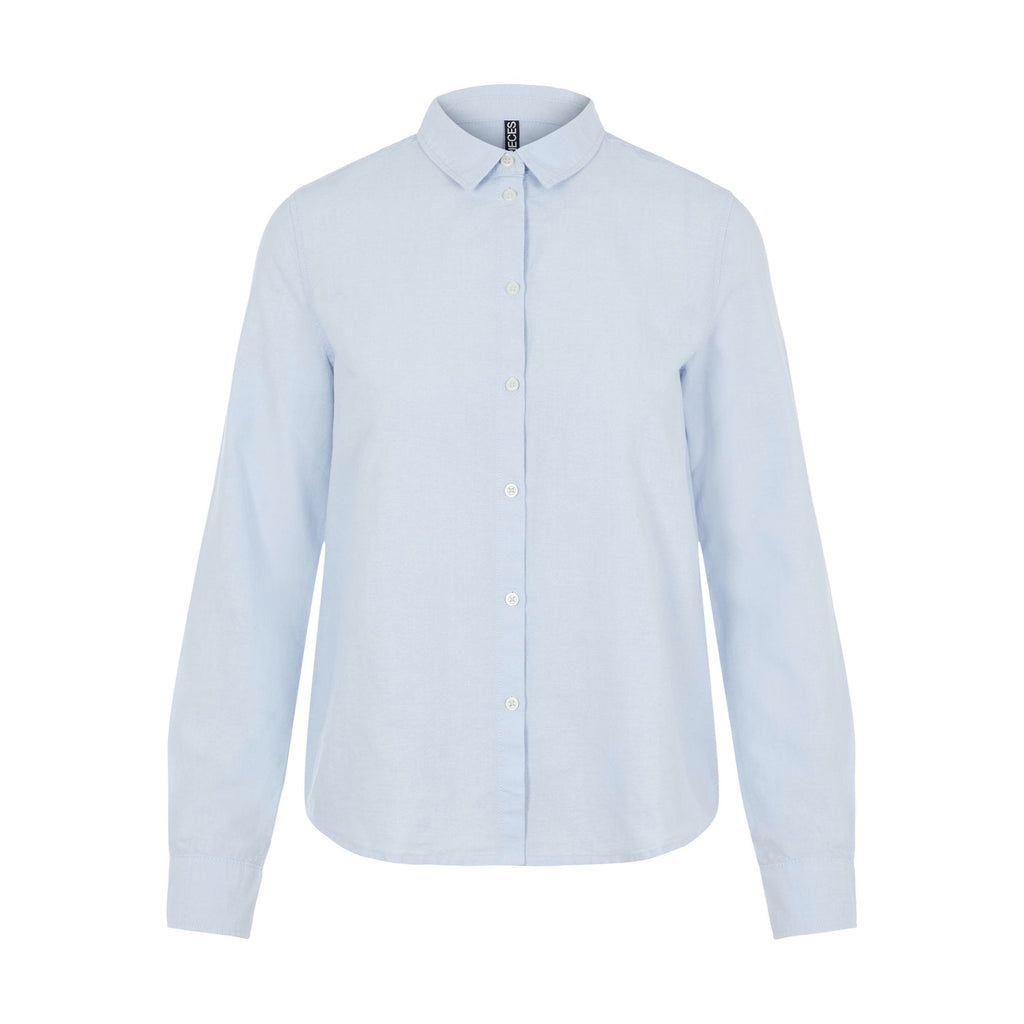 Oxford basic blouse blauw