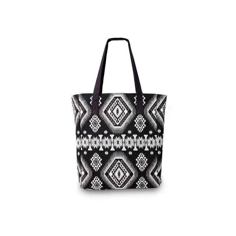 Bulu shopper black white
