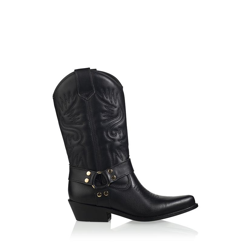 DWRS texas boot black/gold