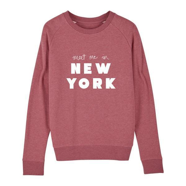 NY sweater red