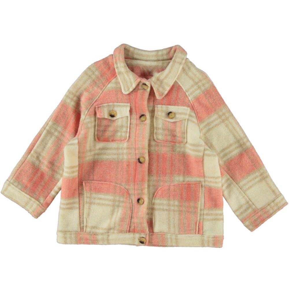 Checked jacket pink