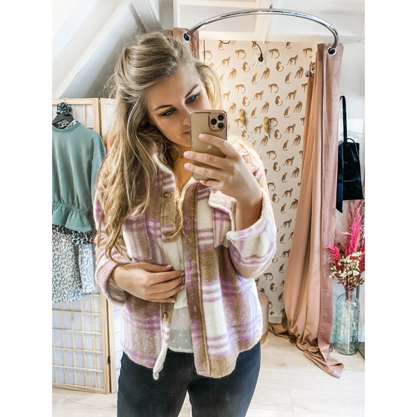 Jacket lila checked