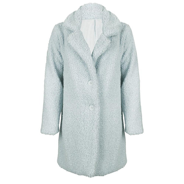 Spring teddy coat blue