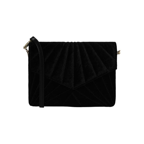 Velvet cross bag black