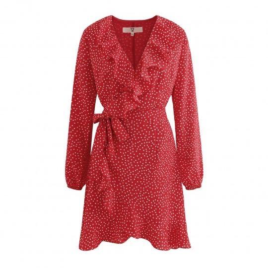 Wrappie dress red dots