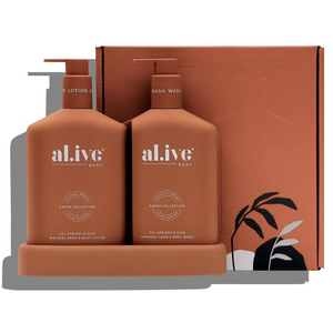 Al.ive Wash & Lotion Duo + Tray- Fig, Apricot & Sage