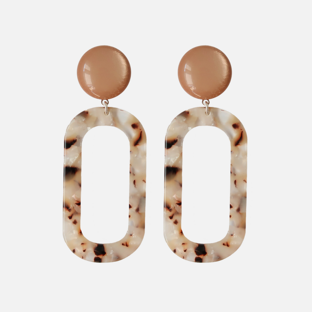 Petit Bonbon statement leopard earrings