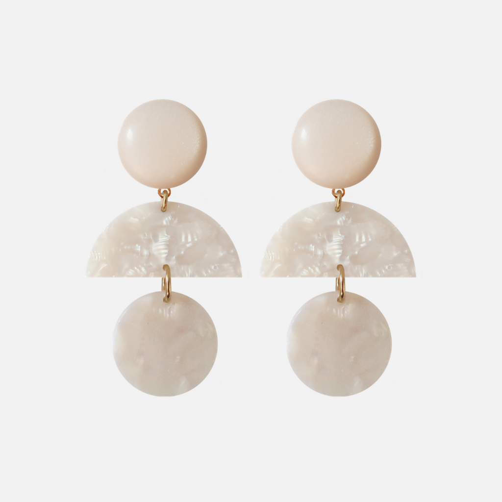 Petit Bonbon statement white earrings