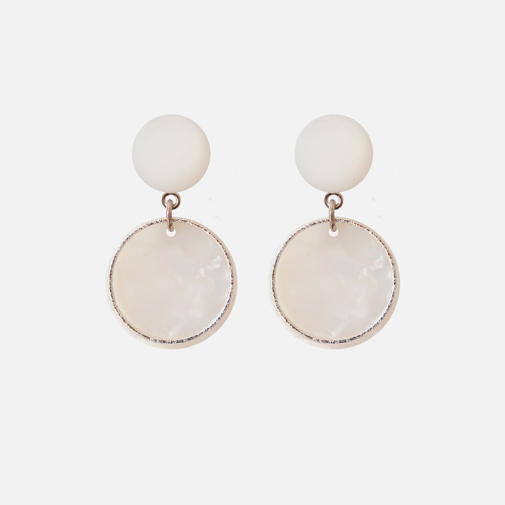 Petit Bonbon statement hoop silver earrings oorbellen