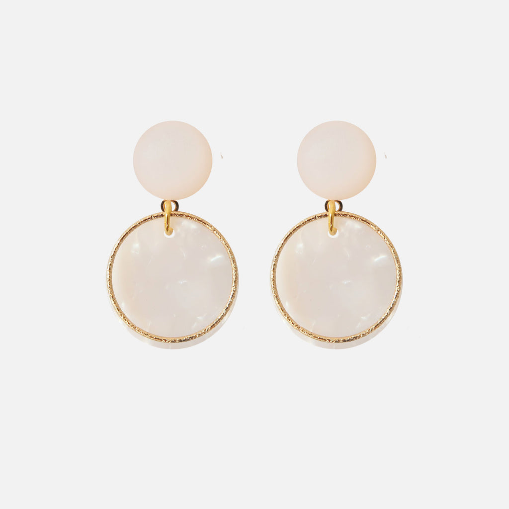 Petit Bonbon statement hoop gold earrings oorbellen