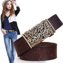 Load image into Gallery viewer, Genuine Cow skin Leather Belts For Women