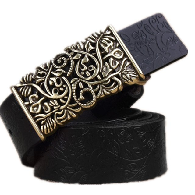 Genuine Cow skin Leather Belts For Women