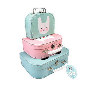 Panda and Friends Suitcases Set of 3