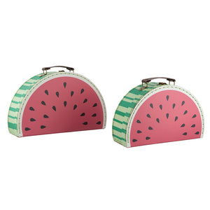 Set of 2 Watermelon Suitcases
