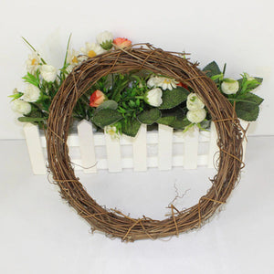 Wicker Wreath Milestone Marker