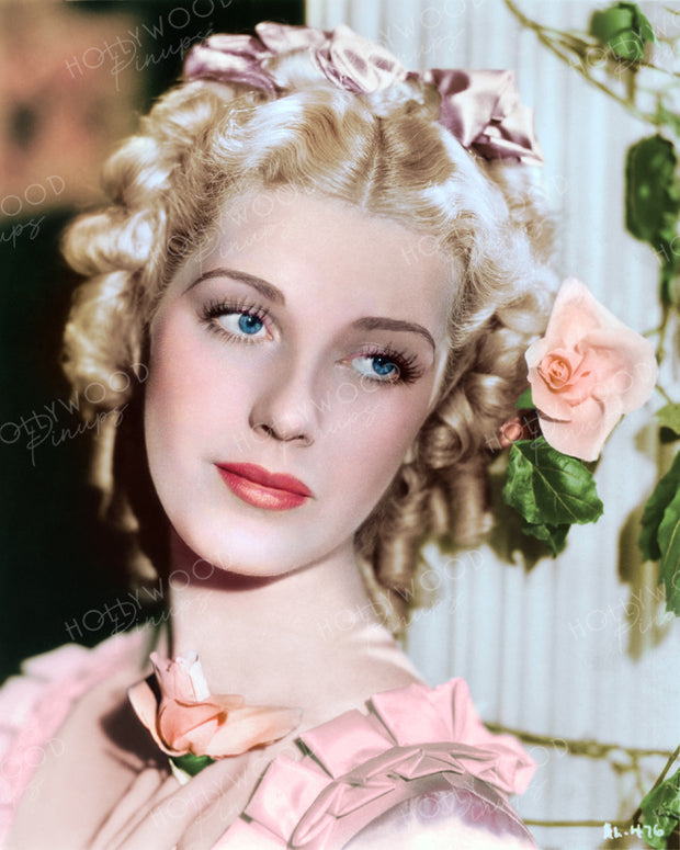 Anita Louise Rose Pillar 1936 | Hollywood Pinups | Film Star Colour and B&W Prints