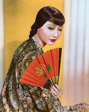 Anna May Wong Embroidered Silk 1938 | Hollywood Pinups | Film Star Colour and B&W Prints