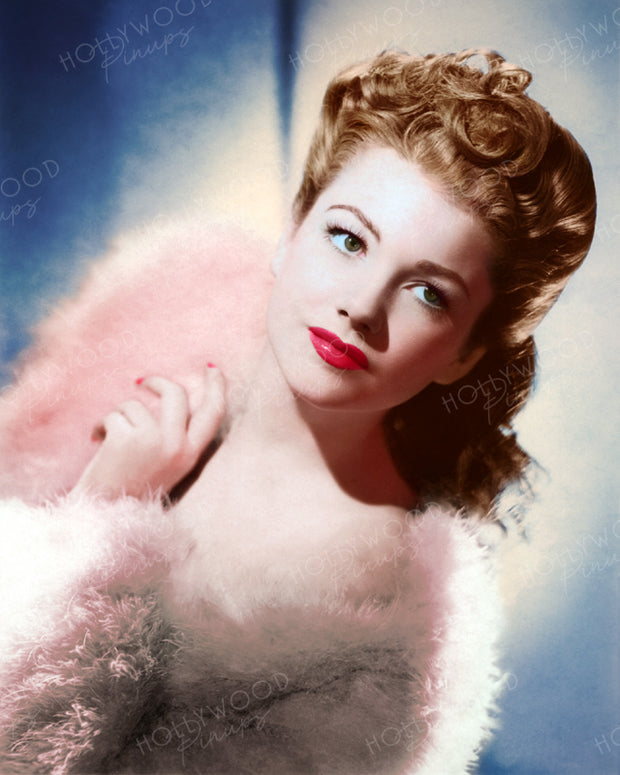 Anne Baxter Fur Glamour 1942 | Hollywood Pinups | Film Star Colour and B&W Prints