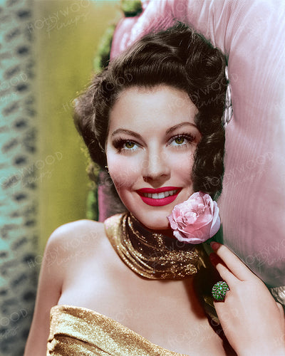 Ava Gardner Pink Rose 1944 | Hollywood Pinups | Film Star Colour and B&W Prints
