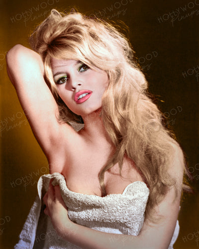 Brigitte Bardot Bedroom Hair 1950s | Hollywood Pinups | Film Star Colour and B&W Prints