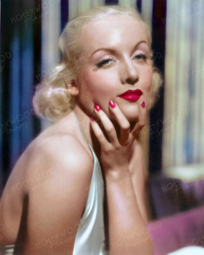 Carole Lombard Bedroom Eyes 1933 | Hollywood Pinups | Film Star Colour and B&W Prints