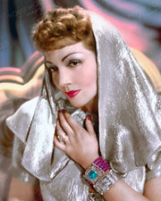 Claudette Colbert Shimmering Star 1939 | Hollywood Pinups | Film Star Colour and B&W Prints