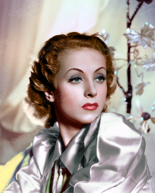 Danielle Darrieux Silver Shimmer 1936 | Hollywood Pinups | Film Star Colour and B&W Prints