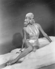 Diana Dors Silver Swimsuit 1956 | Hollywood Pinups | Film Star Colour and B&W Prints