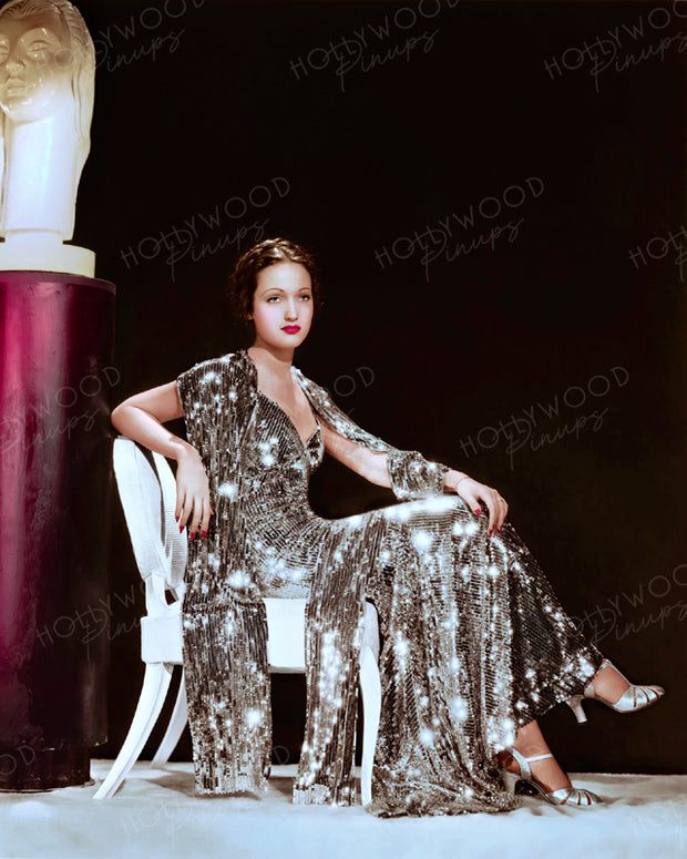 Dorothy Lamour Glitter Gown 1936 | Hollywood Pinups | Film Star Colour and B&W Prints