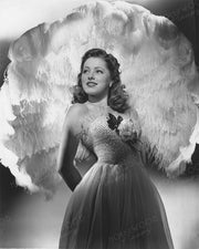 Eleanor Parker Feather Fan 1944 | Hollywood Pinups | Film Star Colour and B&W Prints