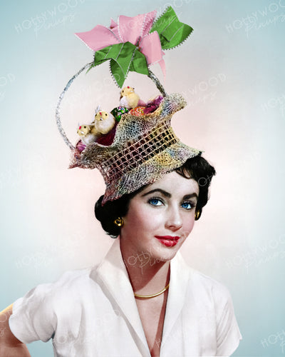 Elizabeth Taylor Easter Bonnet 1949 | Hollywood Pinups | Film Star Colour and B&W Prints