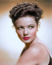 Gene Tierney Swept Updo 1941 | Hollywood Pinups | Film Star Colour and B&W Prints
