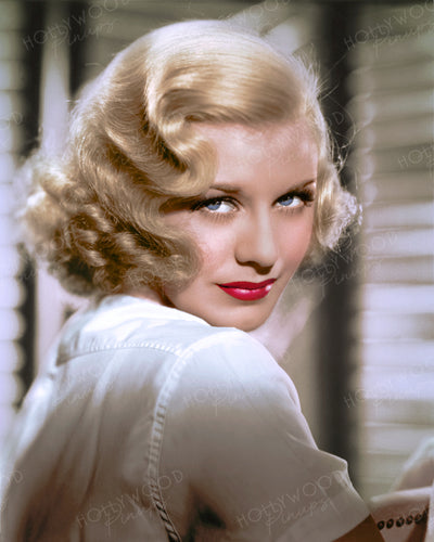 Ginger Rogers Blonde Waves 1936 | Hollywood Pinups | Film Star Colour and B&W Prints