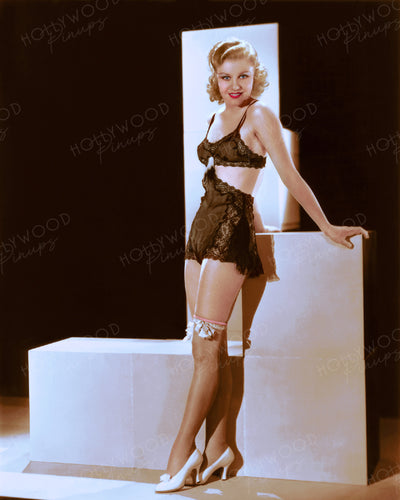 Ginger Rogers Lace Lingerie 1933 | Hollywood Pinups | Film Star Colour and B&W Prints