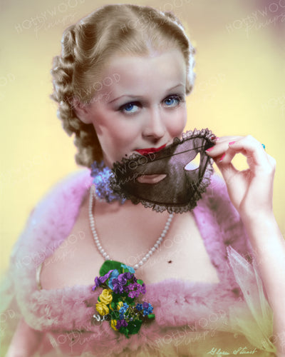 Gloria Stuart Lace Mask 1935 | Hollywood Pinups | Film Star Colour and B&W Prints