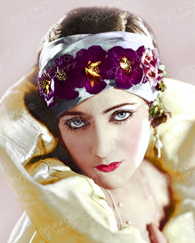 Gloria Swanson Floral Hairband 1923 by Richee | Hollywood Pinups | Film Star Colour and B&W Prints