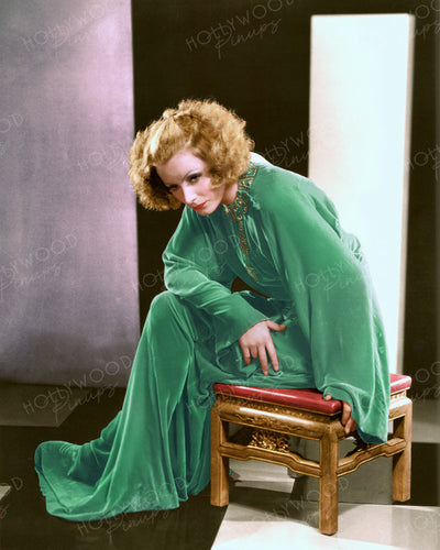 Greta Garbo Emerald Velvet 1931 | Hollywood Pinups | Film Star Colour and B&W Prints