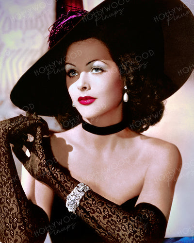 Hedy Lamarr Black Lace 1942 | Hollywood Pinups | Film Star Colour and B&W Prints
