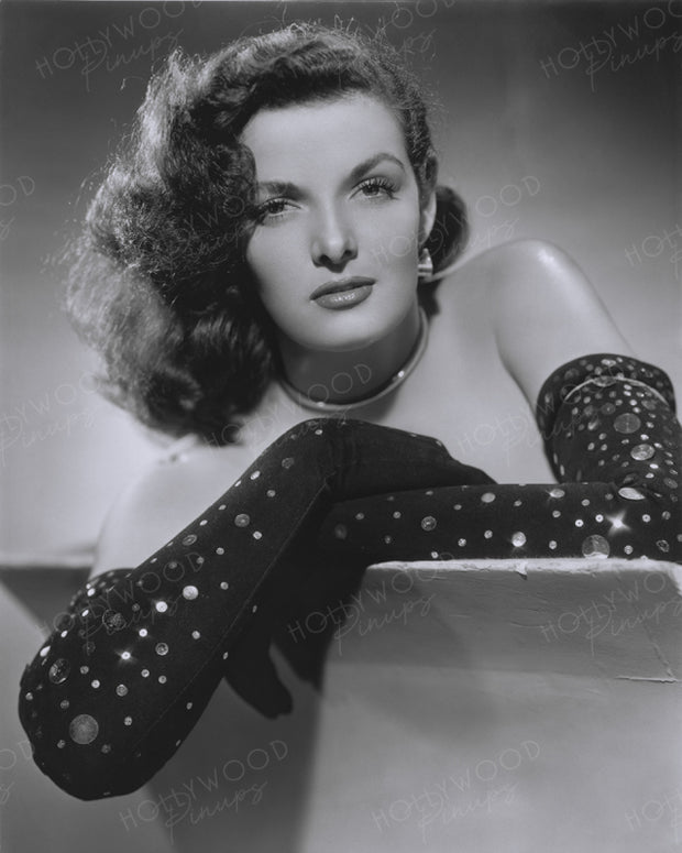 Jane Russell Sequined Gloves 1948 | Hollywood Pinups | Film Star Colour and B&W Prints