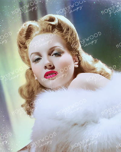 Janet Blair Glamour Puss 1944 | Hollywood Pinups Color Prints