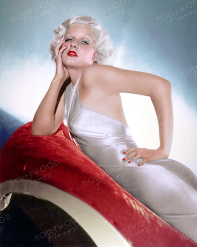 Jean Harlow Slinky Satin 1933 | Hollywood Pinups | Film Star Colour and B&W Prints