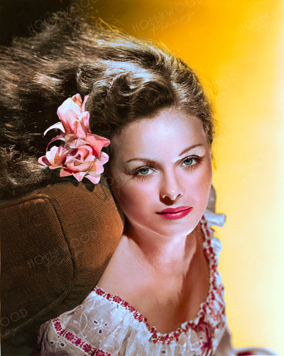 Jeanne Crain Floral Romance 1945 | Hollywood Pinups | Film Star Colour and B&W Prints