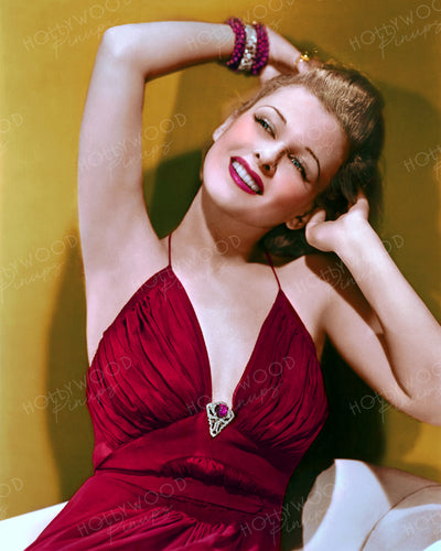 Joan Bennett Ravishing Red 1938 | Hollywood Pinups | Film Star Colour and B&W Prints